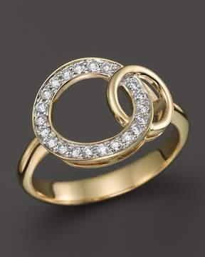 Bloomingdale's Diamond Interlocking Circle Ring in 14K Yellow Gold, .25 ct. t.w.