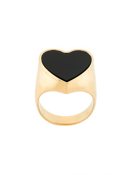 Chloé brass heart ring