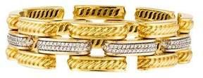 David Yurman 18K Diamond Gatelin Bracelet
