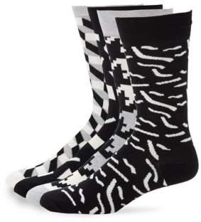 Happy Socks Geometric Print Crew Socks Set
