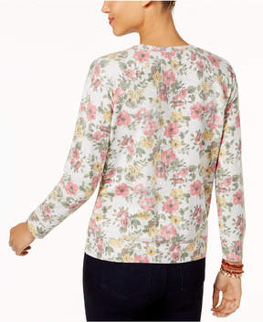Style&Co. Style & Co Petite Printed Sweatshirt, Created for Macy's