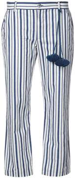 Figue striped cropped trousers