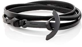 Miansai Men's Modern Anchor On Leather Wrap Bracelet