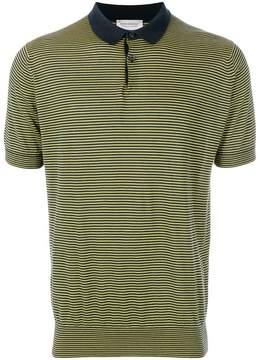 John Smedley striped polo shirt