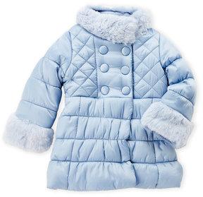 Jessica Simpson Toddler Girls) Faux Fur Trim Quilted Coat