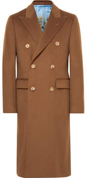 Gucci Slim-Fit Double-Breasted Cashmere Overcoat