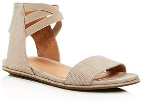 Kenneth Cole Gentle Souls Women's Lark-May Perforated Suede Ankle Strap Demi Wedge Sandals