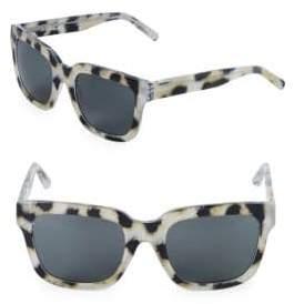 3.1 Phillip Lim 52MM Square Cheetah Sunglasses