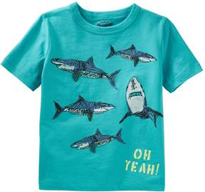 Osh Kosh Oshkosh Bgosh Boys 4-8 Sharks Oh Yeah Graphic Tee