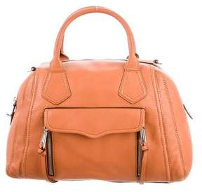 Rebecca Minkoff Leather Satchel - BROWN - STYLE