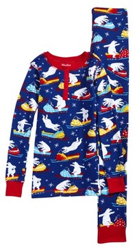 Hatley Toddler Boy's Thermal Organic Cotton Fitted Two-Piece Pajamas