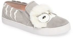 Kate Spade Women's Leferts Faux Fur Trim Slip-On Sneaker