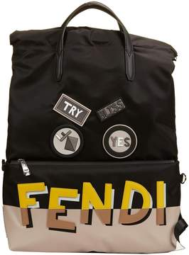 Fendi Applique Shadow Logo Backpack