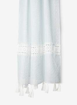 Dorothy Perkins Blue Striped Lace Insert Scarf