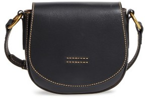Frye Small Harness Calfskin Leather Saddle Bag - Black