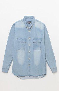 Barney Cools Worker Denim Long Sleeve Button Up Shirt