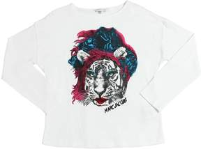 Little Marc Jacobs Tiger Printed Cotton Jersey T-Shirt