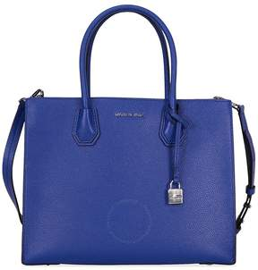 Michael Kors Mercer Large Bonded Leather Tote - Electric Blue - ONE COLOR - STYLE