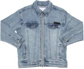 Molo Stretch Cotton Denim Jacket