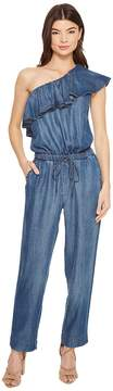 1 STATE 1.STATE Ruffle Edge One Shoulder Jumpsuit Women's Jumpsuit & Rompers One Piece