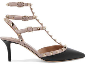 Valentino Rockstud Leather Pumps - Black