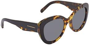 Burberry Grey Oval Ladies Butterfly Sunglasses