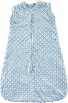 Hudson Baby Light Blue Dotted Plush Sleeping Zip-Up