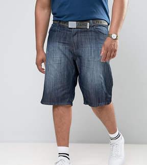 Loyalty And Faith PLUS Brockers 5 Pocket Denim Shorts with Belt