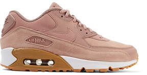 Nike Air Max 90 Suede-trimmed Leather Sneakers - Antique rose
