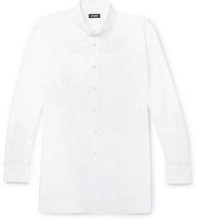 Raf Simons Oversized Button-Down Collar Embroidered Cotton-Poplin Shirt