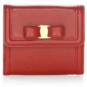 Salvatore Ferragamo French Continental Vara Bow Leather Wallet