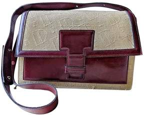 Delvaux Vintage Burgundy Cloth Handbag