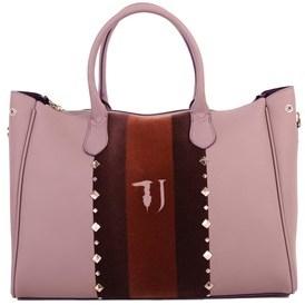 Trussardi Women's Pink Polyurethane Handbag.