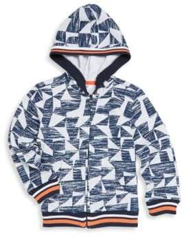 Petit Lem Little Boy's Abstract-Print Hoodie