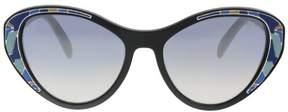 Prada PR 14US LDM5R0 Black Cat eye Sunglasses