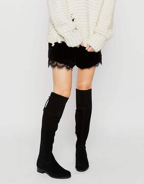New Look Suede Over The Knee Flat Boot
