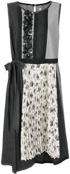 Antonio Marras floral applique sleeveless dress
