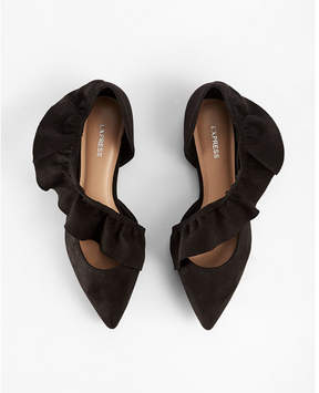 Express ruffle pointed toe flats
