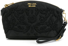 Prada embroidered quilted beauty case