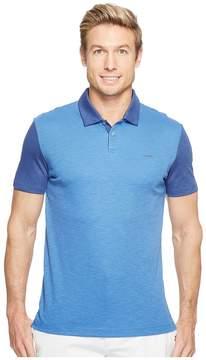 Calvin Klein Color Block Lyocel Polo Shirt Men's Short Sleeve Pullover
