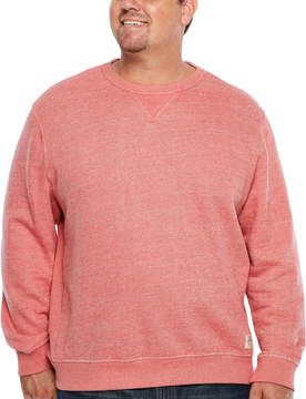 Izod Saltwater Terry Long Sleeve Crew Neck T-Shirt-Big and Tall