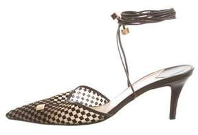 Louis Vuitton Lace-Up Pointed-Toe Pumps