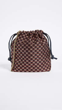 Clare Vivier Drawstring Pouch with Shoulder Strap
