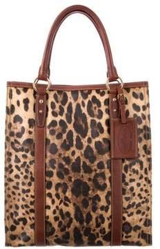 Dolce & Gabbana Leather Animalier Tote - ANIMAL PRINT - STYLE