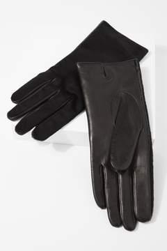 7 For All Mankind Calf Hair Short Gloves In Black