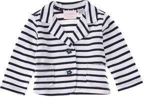 Chicco Girls' White & Blue Striped Jacket