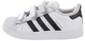 adidas Boys' Leather Round-Toe Sneakers