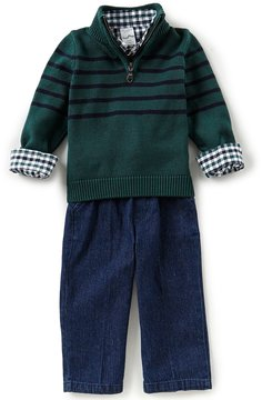Starting Out Baby Boys 12-24 Months Striped Sweater, Shirt, & Pants 3-Piece Set