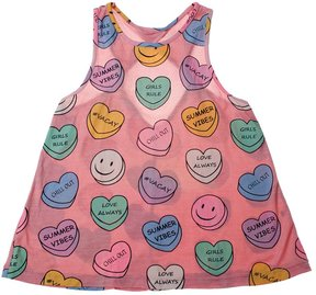 Flowers by Zoe Youth Girl's Sweetheart Tank - Charcoal