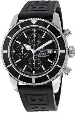 Breitling Superocean Heritage Automatic Chronograph Black Dial Black Rubber Men's Watch